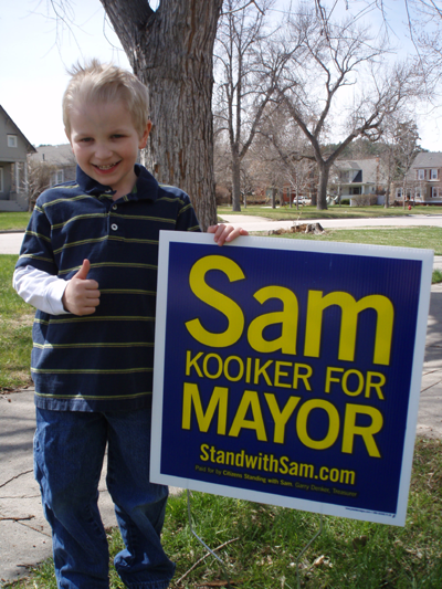 Sam Kooiker yard sign